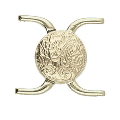 Cymbal Souda ii, 11/0 Magnetic Clasp, Antique Brass-Plated, 15.5 x 17.5mm (Qty: 1)
