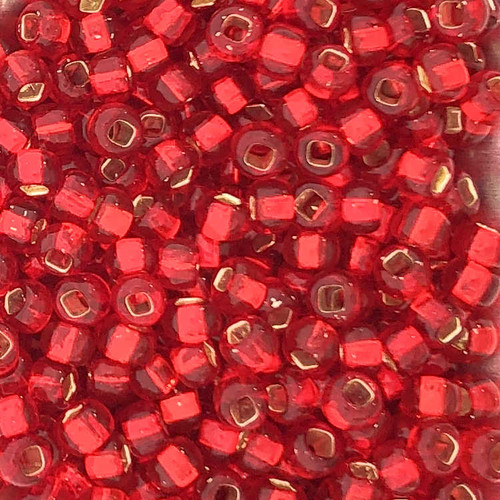 6-0010, Silver-Lined Flame Red (Miyuki) (28 gr.)