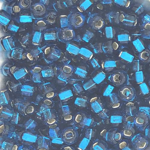 6-0017A, Silver-Lined Aqua Capri (Qty: 28 gr.)