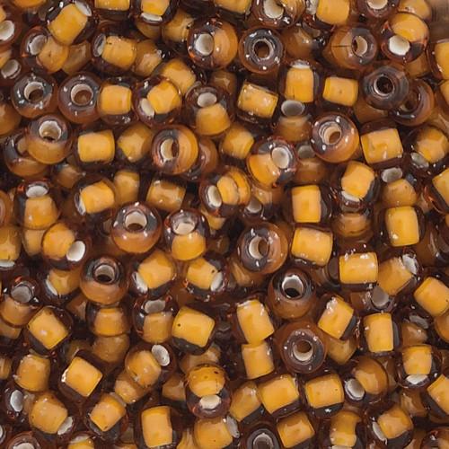 6-0327D, White-Lined Dark Amber (28 gr.)