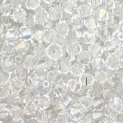 4mm Preciosa Bicones, Crystal (Qty: 50)