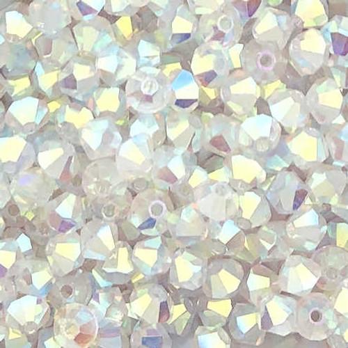 4mm Preciosa Bicones, Crystal AB2X (Qty: 50)