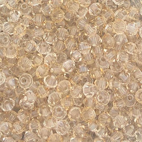 4mm Preciosa Bicones, Crystal Honey (Qty: 50)