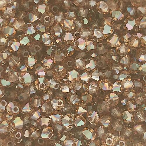 4mm Preciosa Bicones, Crystal Venus (Qty: 50)