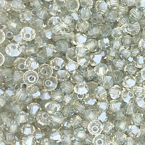 4mm Preciosa Bicones, Crystal Viridian (Qty: 50)