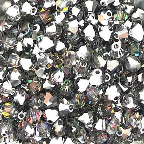 4mm Preciosa Bicones, Crystal Vitrail Medium (Qty: 50)