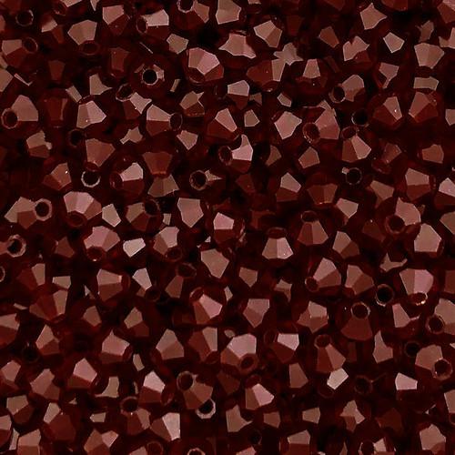 4mm Preciosa Bicones, Garnet (Qty: 50)
