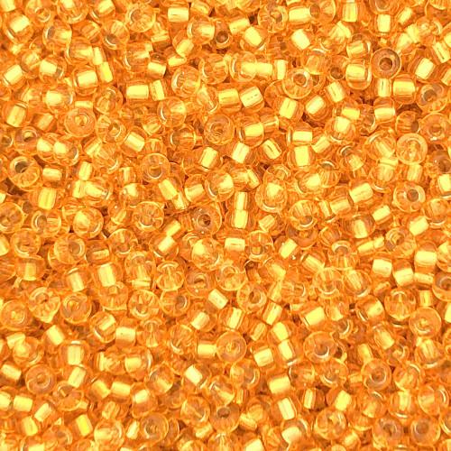 11-0007, Silver-Lined Sunflower Orange (Miyuki) (28 gr.)