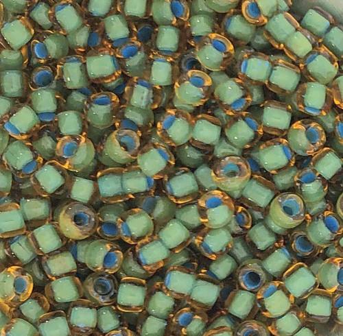 6-0399F, Topaz Color-Lined Seafoam (Matsuno) (28 gr.)