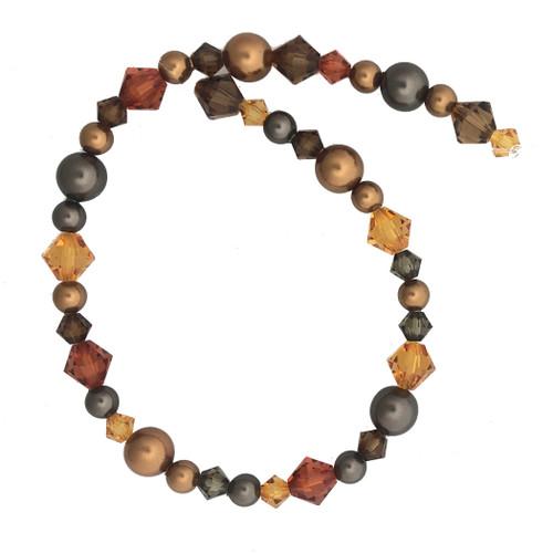 "Swarovski Bicones & Pearls Designer Blend, Coffee Carafe (7"", 36-38 beads)"