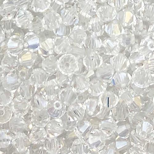 3mm Preciosa Bicones, Crystal (Qty: 50)