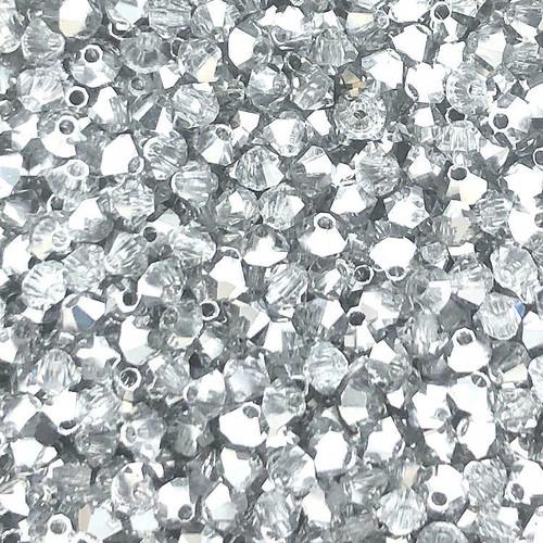 3mm Preciosa Bicones, Crystal Labrador Half (Qty: 50)