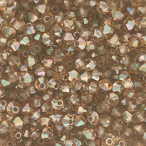 3mm Preciosa Bicones, Crystal Venus (Qty: 50)