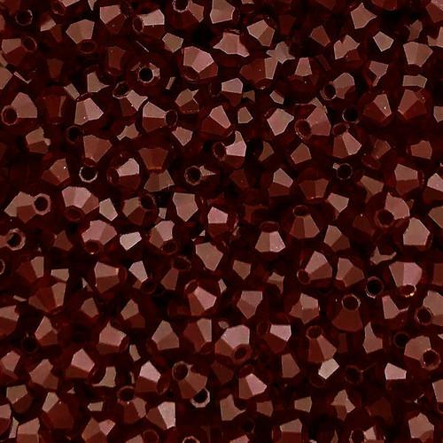 3mm Preciosa Bicones, Garnet (Qty: 50)