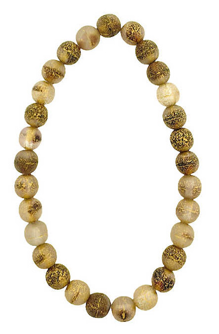 6mm Round Glass Beads (Druk), Transparent w/ Gold Wash and Etched Finish (Qty: 30)