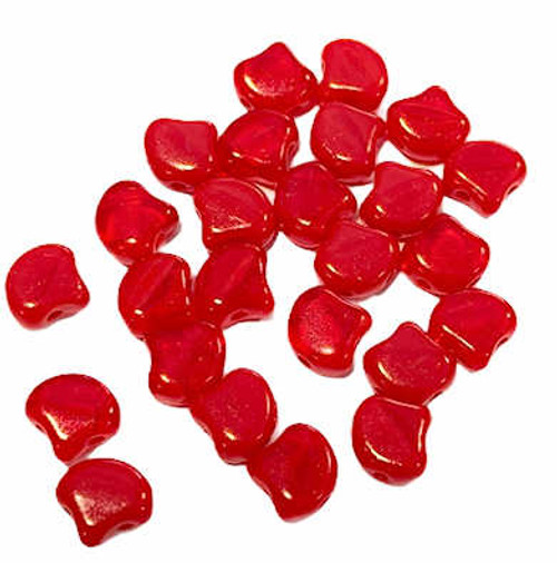 Ginko Beads, Opal Red, 5x7mm (Qty: 25)