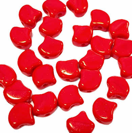 Ginko Beads, Opaque Red, 5x7mm (Qty: 25)