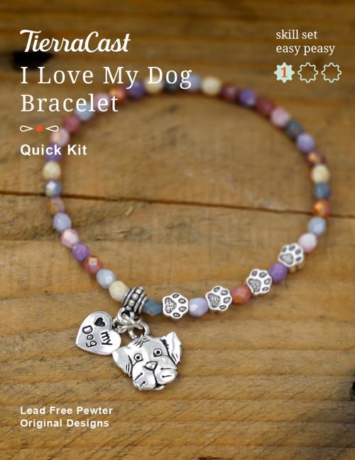TierraCast I Love my Dog Bracelet Kit