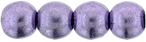 3mm Round Glass Beads, Saturated Metallic Ballet Slipper (Qty: 50)