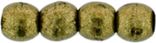 3mm Round Glass Beads, Saturated Metallic Emperador (Qty: 50)