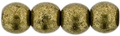 4mm Round Glass Beads, Saturated Metallic Emperador (Qty: 50)