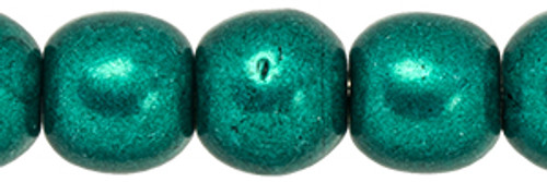 4mm Round Glass Beads, Saturated Metallic Forest Biome (Qty: 50)