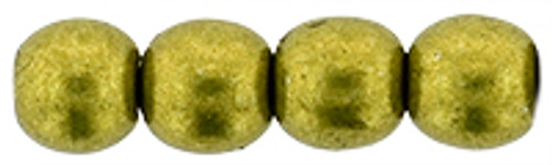 4mm Round Glass Beads, Saturated Metallic Meadowlark (Qty: 50)