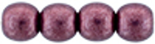 4mm Round Glass Beads, Saturated Metallic Red Pear (Qty: 50)