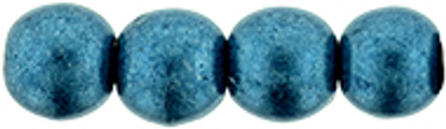4mm Round Glass Beads, Saturated Metallic Shaded Spruce (Qty: 50)