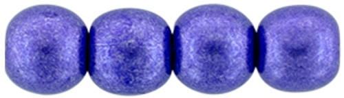 4mm Round Glass Beads, Saturated Metallic Ultra Violet (Qty: 50)