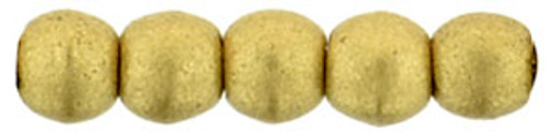 3mm Round Glass Beads, Saturated Metallic Flax (Qty: 50)