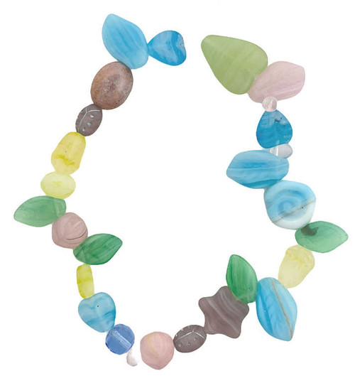 """Czech Glass Bead Mix, Spring Matte (8"""" strand) (Beads vary from strand to strand)"""