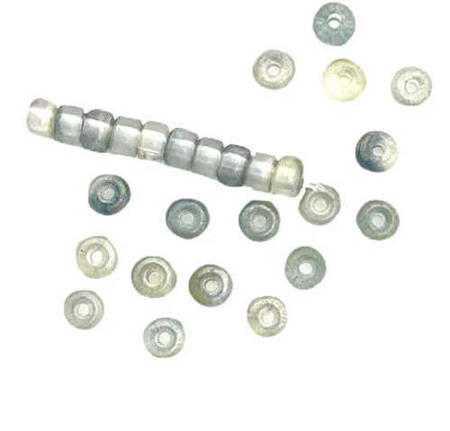 Disk/Rondelle Beads, 3x1mm, Ocean Green Luster (Qty: 81)