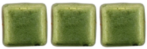 2-Hole Tile Beads, Sueded Gold Fern  (Qty: 25)