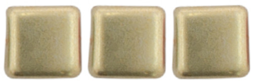 2-Hole Tile Beads, Sueded Gold Cloud Dream  (Qty: 25)
