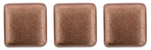 2-Hole Tile Beads, Sueded Gold Ash Rose  (Qty: 25)