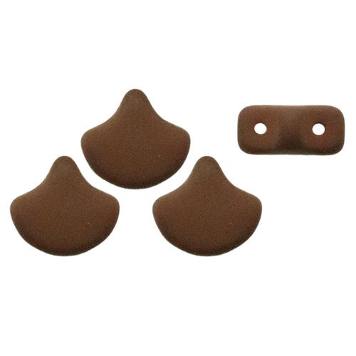 Ginko Beads, Saturated Chocolate (Qty: 25)