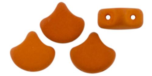 Ginko Beads, Saturated Pumpkin (Qty: 25)