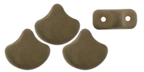 Ginko Beads, Saturated Khaki Green (Qty: 25)