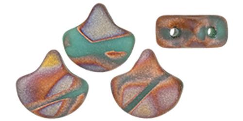 Ginko Beads, Bronze Apollo Turquoise (Qty: 25)
