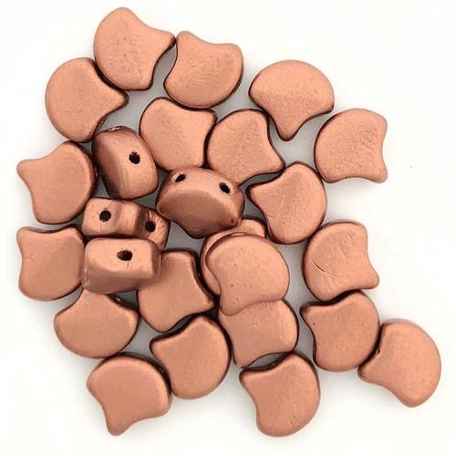 Ginko Beads, Bronze Copper (Qty: 25)