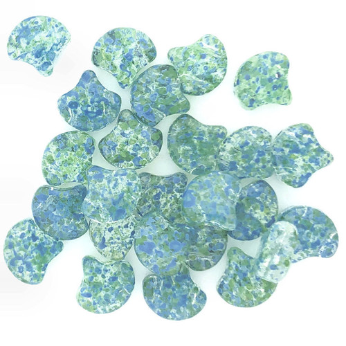 Ginko Beads, Confetti Splash Blue Green (Qty: 25)
