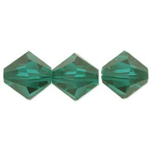 3mm Swarovski Bicones, Emerald (Qty: 50)