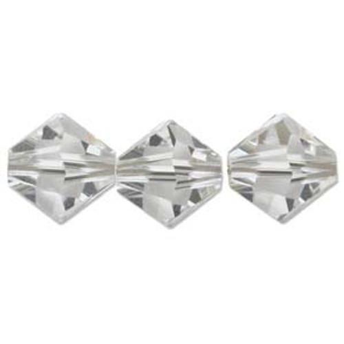 4mm Swarovski Bicones, Crystal (Qty: 50)