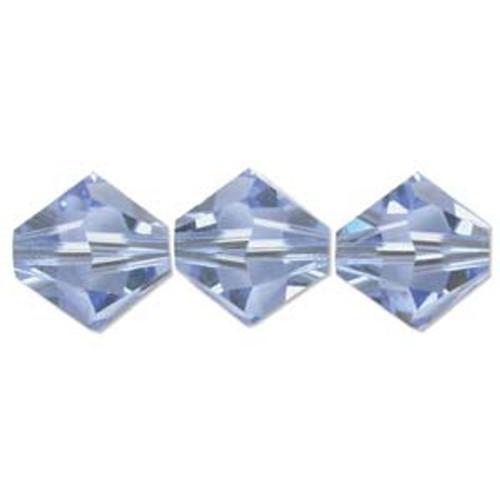 3mm Swarovski Bicones, Light Sapphire (Qty: 50)