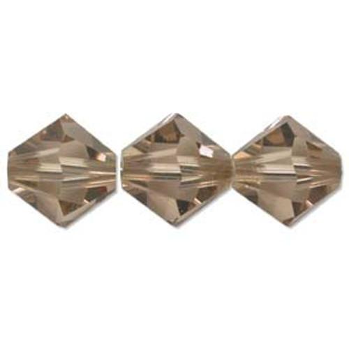 3mm Swarovski Bicones, Light Colorado Topaz (Qty: 50)