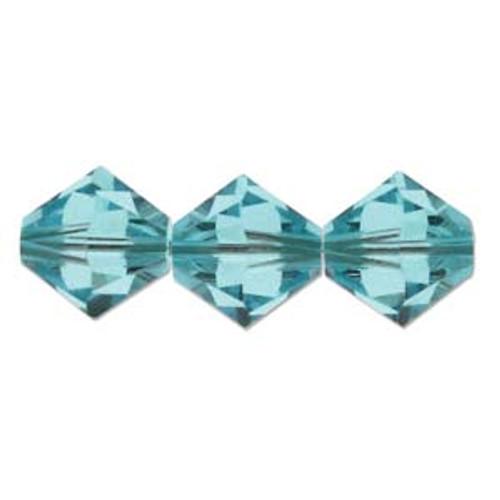 3mm Swarovski Bicones, Light Turquoise (Qty: 50)
