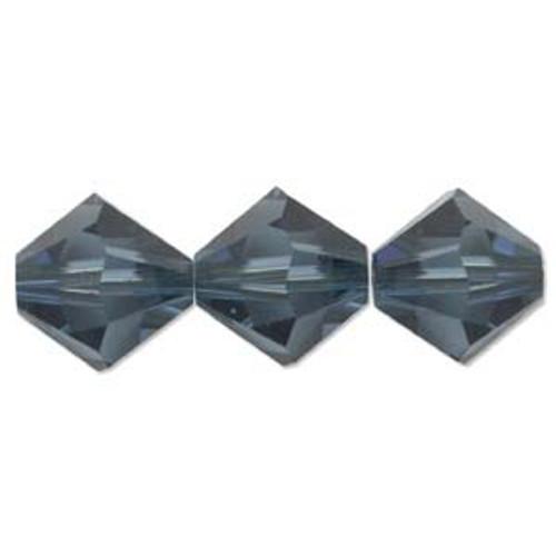 3mm Swarovski Bicones, Montana Blue (Qty: 50)