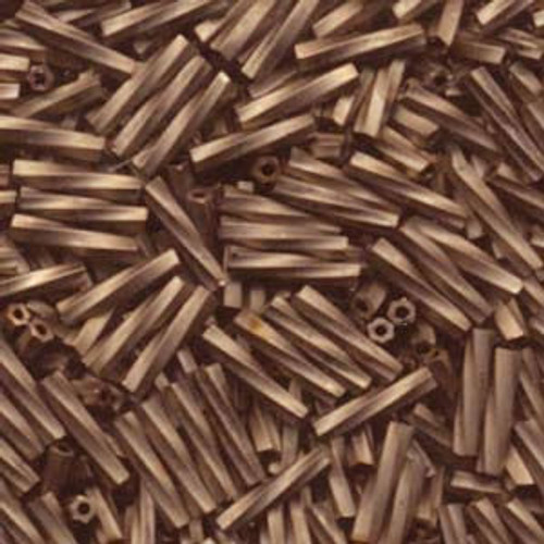 2.7 x 12mm Twisted Bugles, Antique Gold Matte Black (10 gr.)