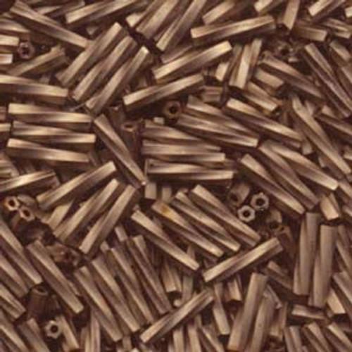 2.7 x 12mm Twisted Bugles, Antique Gold Matte Black (10 gr.)